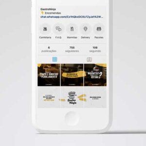 Campanha de vendas no instagram da Gastroninja